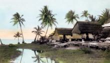Cabanes de pêcheurs de San Antonio, île de Guam; photographie de Ron Hubbard, achetée par le National Geographic, 1930.